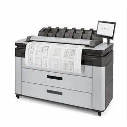Colored HP DesignJet XL 3600 Multifunction Printer, 29sec