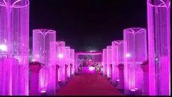 Iron Pink Dakoratars Stand Jhumar, For Decoration