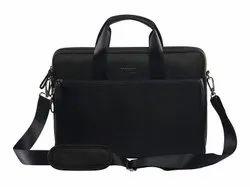 Black Non Woven 15.4 MacBook Slim Line Bag, Capacity: 10 Kg