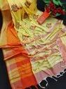 Linen Embroidery Saree