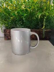 Round 11oZ Ceramic Mug With Sublimation Silver, Capacity: 330