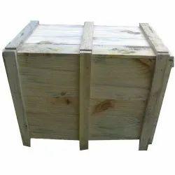 Pinewood Rectangular Wooden Packing Case, Capacity: 40 Kg