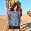 Yami Fashion Fame Rayon Neck Embroidery Work Short Tunic Western Tops