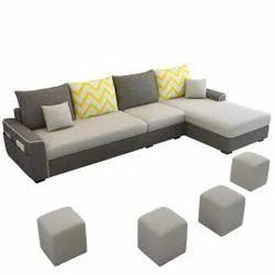 CSFI Modern Fabric Sofa Set, Living Room, Size: 5' X 8'