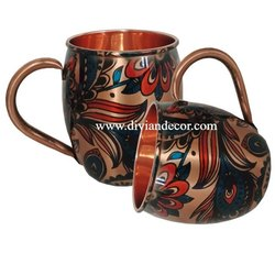 Meenakari Pure Copper Mug