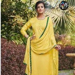 Fancy Unstitched Salwar Suit
