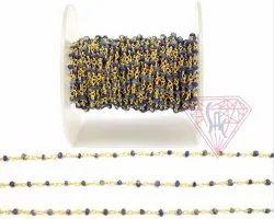 Lapis Gemstone Beaded Rosary Chain