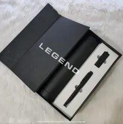 3 Black Bottle, Pen & USB Set with Premium Box, For Business Gift