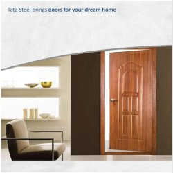 Standard Powder Coated Entrance Steel Door, Thickness: 46 Mm, Material Grade: Bis