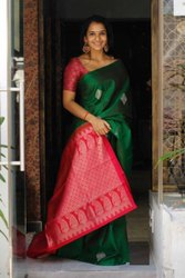 Present Cotton  Silk Saree Beautiful Rich Pallu & Jacquard Work