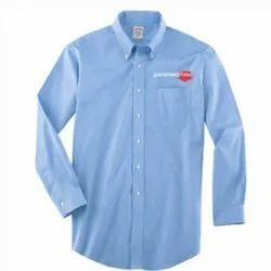 Plain V-Neck Cotton Formal Wear Men Shirt