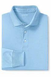 Summer,Winter Cotton Light Blue College Tshirt, Size: M,L