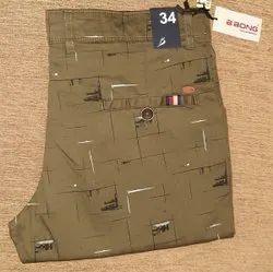 Cotton Mehndi Green Casual Pant, Size: 34