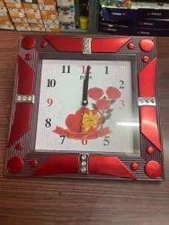 Beena Digital Designer Rectangle Plastic Wall Clock, For Home, Size: 40x40x4 Cm