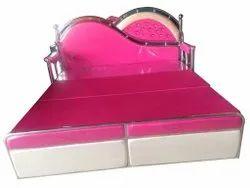 Pink Velvet Sofa Cum Bed