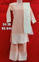 Girls Rayon Chicken Plazo Suit