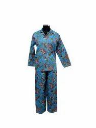 Screen Print Cotton Night Suit