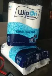 Embossed White Wipon Kitchen Towel Roll Combo Pack, Size: 20x21.5 Cm