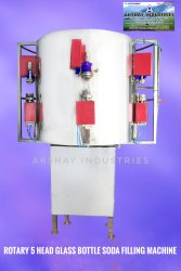 Rotary Glass Bottle Soda Filling Machine
