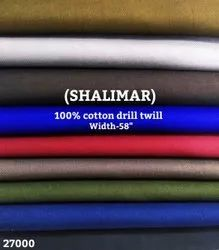 Shalimar 100% Cotton Drill Twill Shirting Fabric