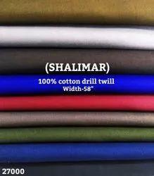 Shalimar 100% Cotton Drill Twill Shirting Fabric