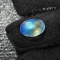 Natural Multi Fire Blue Moonstone Cabochon, Handmade Gemstone, For Jewellery Making