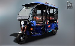 Deltic Star Pro Electric Rickshaw, Vehicle Capacity: 6 Seater