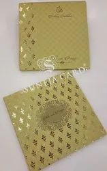 Texture Printed With Gold Foil Design Motif Foil Printed Wedding Card Invitation Card
