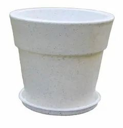 White Jaguar Maxxi Pot With Tray