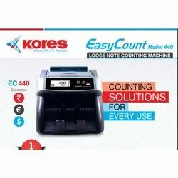 Fully Automatic Kores Easy Count 440 Currency Counting Machine, IR & UV