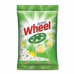 Lemon, jasmine 1kg Active Wheel Detergent Powder, For Laundry