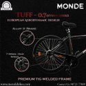 Monde 7-speed 28x700c (red) / City Bike / Mtb Bike / European Aerodynamic Design.