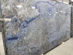 Grey Stone Polished Granite Slab, For Flooring, Thickness: 15-20 mm