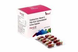 Carbonyl Iron Vitamin C Folic Acid Cyanocobalamin and Zinc Capsules