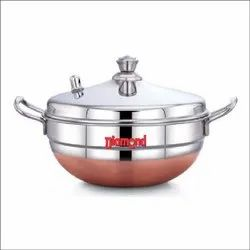 Stainless Steel Diamond Multi Kadai Whistle Small, For Home, Capacity: 8 Idly