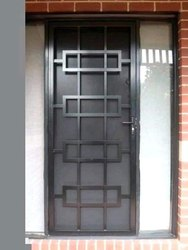 Polished Black Iron Door, Single, Thickness: 10mm