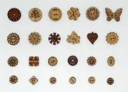 Rectangular Mdf Wooden Buttons