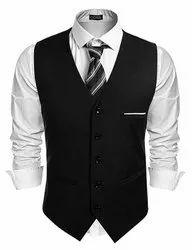 Hotel Uniform Black Service Polyester Waist Coat
