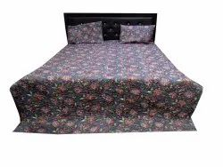 Floral print Quilted Bed Comferter With Two Pillow