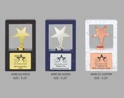 Metal Star Wooden Trophy