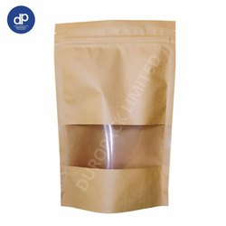 Brown Kraft Paper Pouch with Window