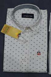 Jungle Man Cotton Men Designer Printed Shirt