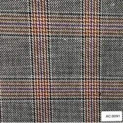 Check Poly Viscose Suiting Fabric