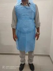 LDPE Blue Disposable Plastic Aprons, For Safety & Protection, Size: Free