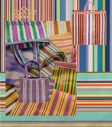 Nylon Striped Shopping Bag