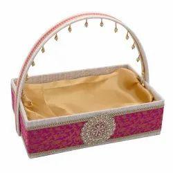Large Brocade Basket