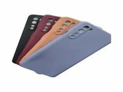 Leather Oneplus Plain Mobile Back Cover