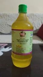 Bottle Lowers Cholesterol 1Ltr Wooden Cold Pressed Mustard Oil, Packaging Size: 1000ml