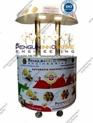 6 To 8 Panipuri Machine Nozzles Round With Serving Counter