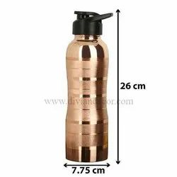 Ayurveda Sipper Pure Copper Bottle for Yoga/Gym Goers/Kids